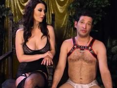 Hairy mistress fucking a slave