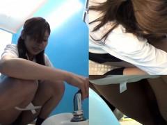 Asian teenagers peeing