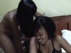 African lesbians Maxiand Sajeda are horny and foreplay in