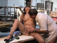 Chubby German mature gets pussy licked