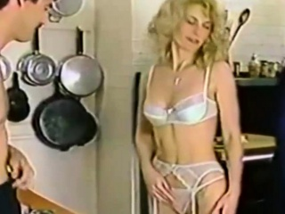 Beautiful Vintage Babe Handles Two Dicks