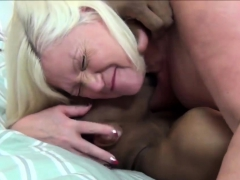 Black Cock Disappears In Nasty Granny