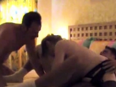 Guy Takes Both A Girl & A Guy During A Swingers Party