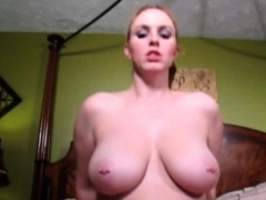 Big Titted Vanilla Talks Dirty While She Fucks