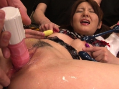 Sexy Asian Gets Covered In Lube And Played With