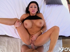 Magical Audrey Bitoni drilled by playmate