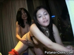 Futanari Bitches Fuck Slave Girl!