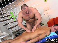 Sexy White Hunk Is Enjoying A Massage From Darksome Chap