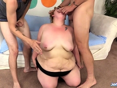 Oversexed Bbw Velma Voodoo Is Double Penetrated By Two