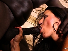German Big Booty MILF Sina First Time Black Monster Cock
