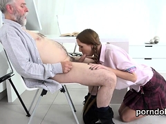 Sensual Schoolgirl Gets Teased And Screwed By Elderly Lectur