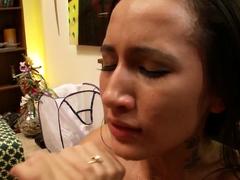 Skinny Sister Amia Seduce to Fuck by Huge Cock Step Bro