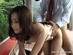 Japanese horny sex doll pussy fucked doggy style