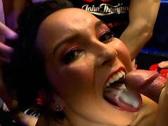 Latina francys belle gets gangbang with bukkakes