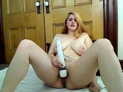 busty bbw with amazing big tits vibrating her pussy