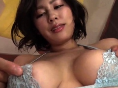 Cumshot on big boobs for slut tit fucking in hd