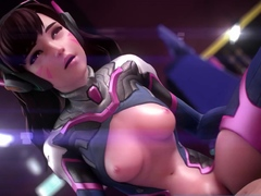 Animated Sweet Girls from 3D Games Wants an Ass Fucking