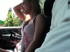 Hot Czech chick cheated bf with a driver