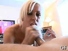 Lewd gorgeous bitch enjoys perfect fuck