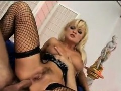 Blonde Russian MILF In A Double Penetration